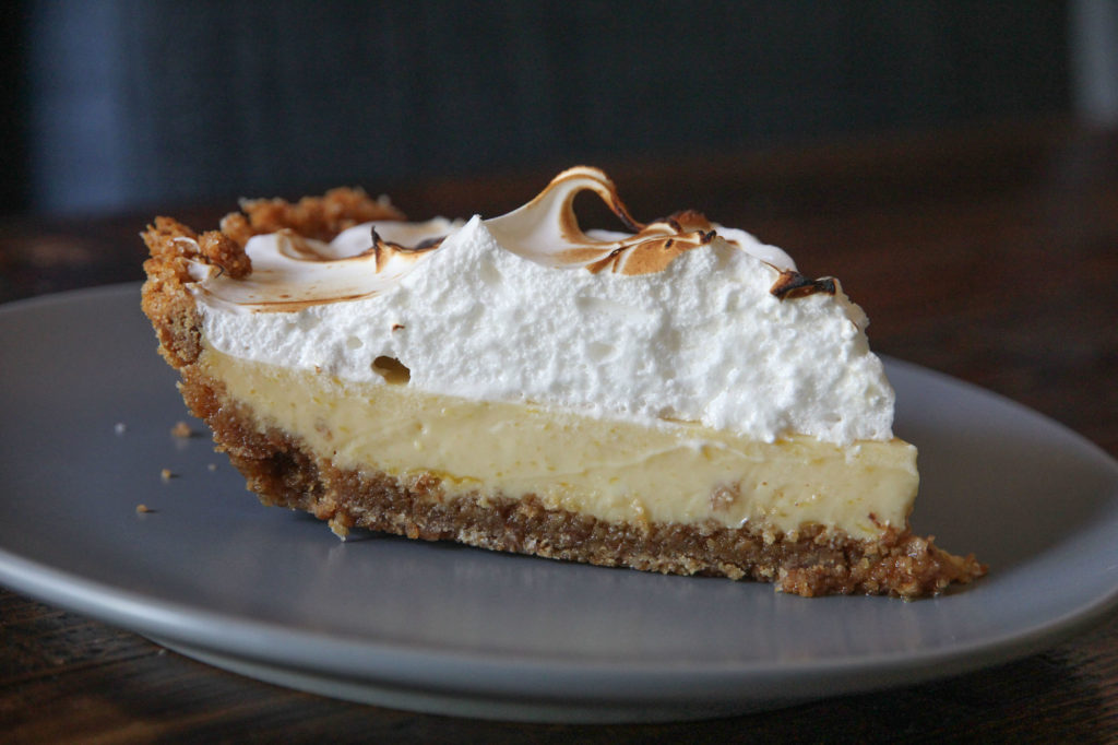 key lime pie with fluffy meringue peaks