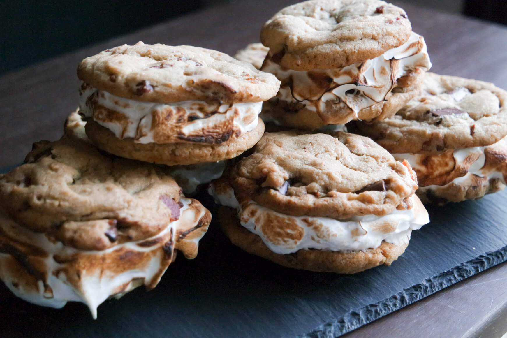 smores and bacon cookie sandwiches