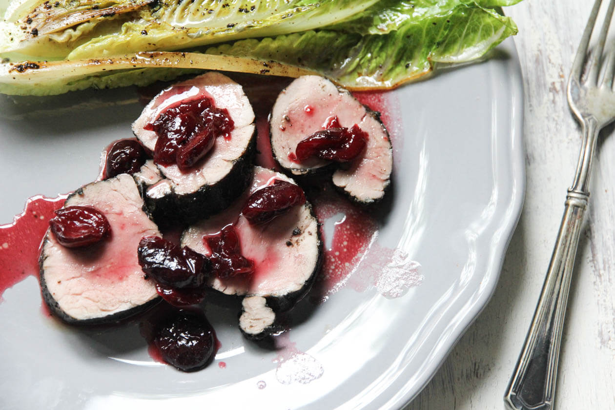 pork tenderloin with cherry bourbon sauce