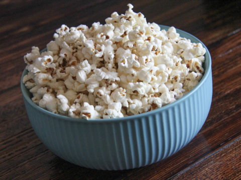popcorn made with smoked brisket fat