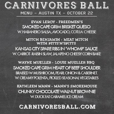 carnivores ball menu
