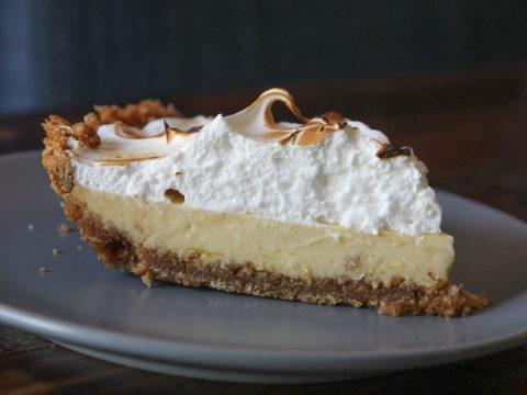 key lime pie with fluffy meringue peaks
