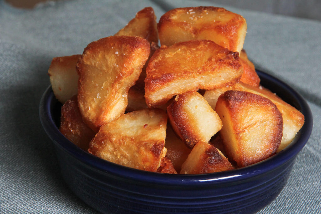 best ever tallow roasted potatoes