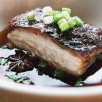 braised asian kurobuta pork belly