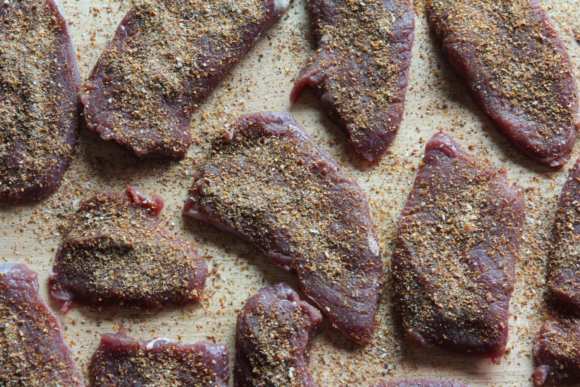seasoned venison for jerky