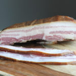 home made smoked cured bacon