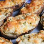 cheesy ranch mashed baked potatoes