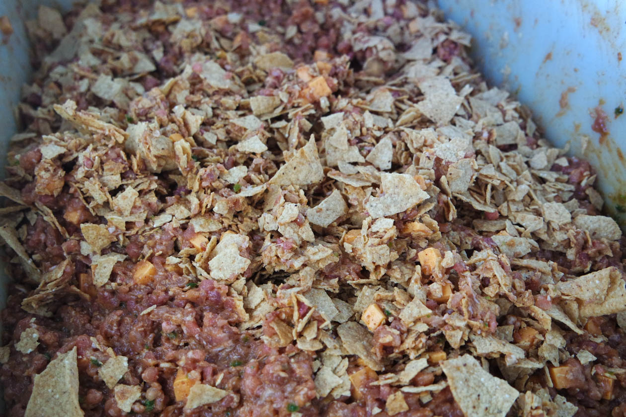 king ranch sausage with tortillas chips evan leroy