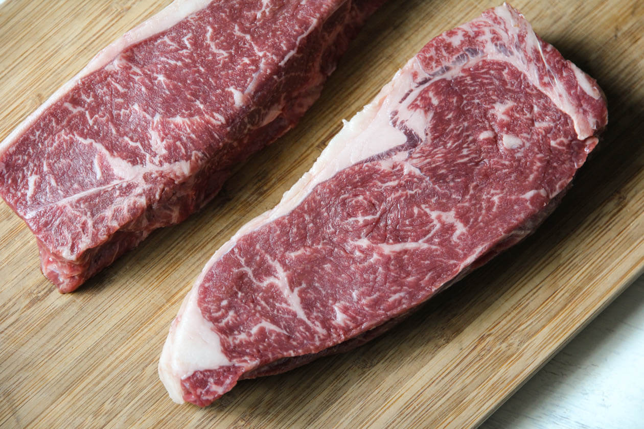 lone mountain wagyu NY strips