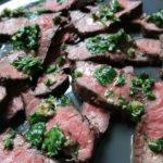 flat iron steak with salsa verde