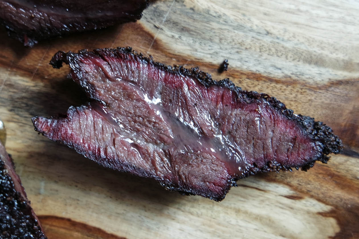 sliced smoked beef cheek