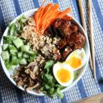 korean gochujang cold noodle bowl