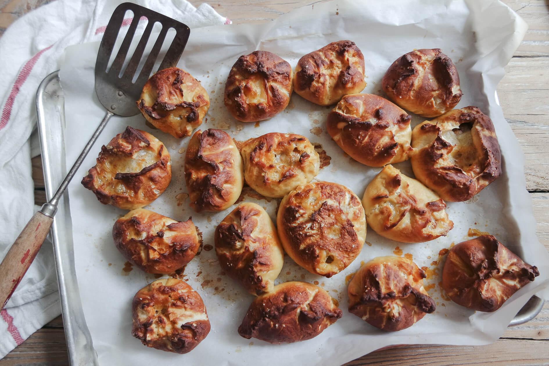 mulay's chorizo stuffed pretzels