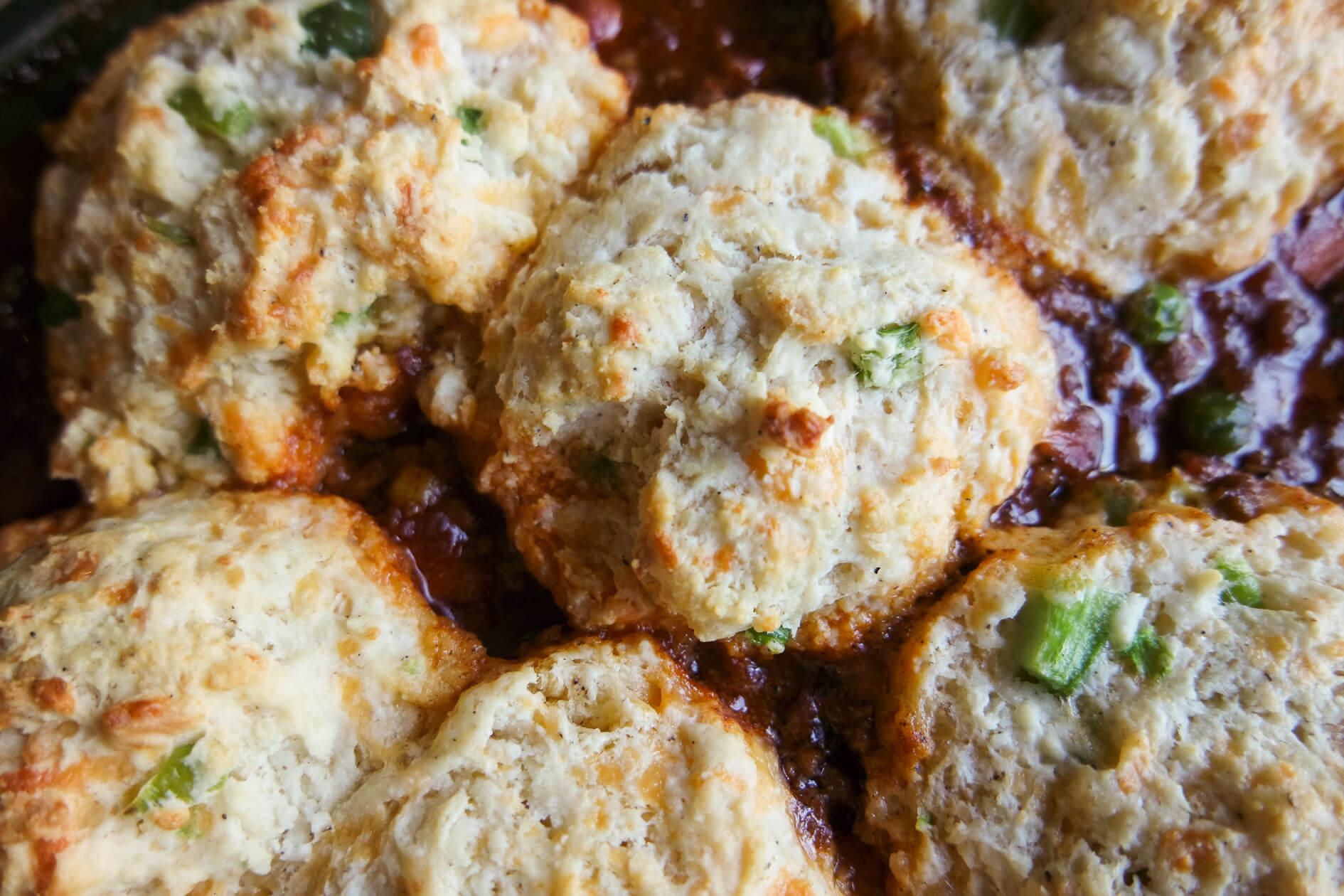 cheddar jalapeno biscuit topper
