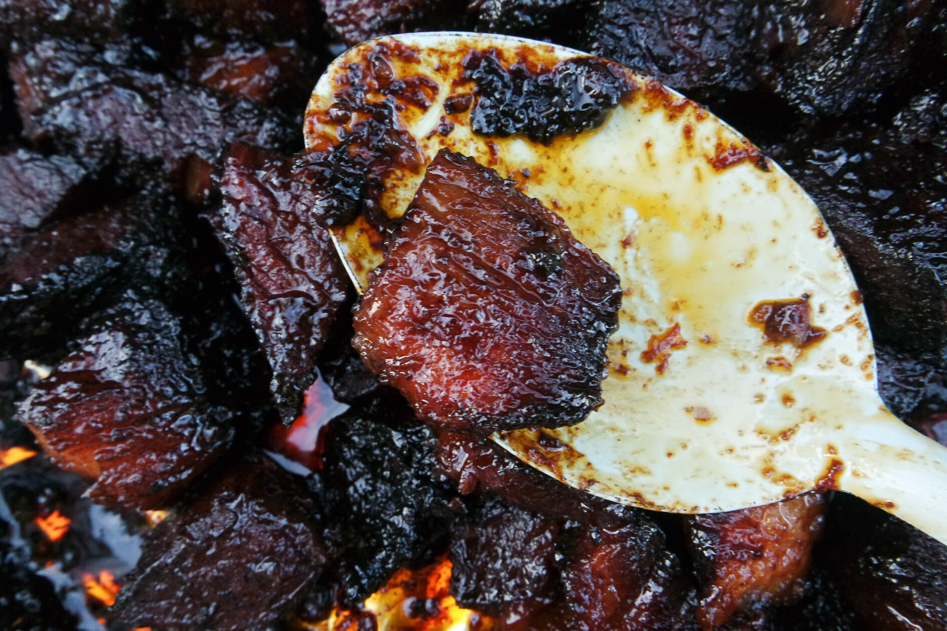 sticky burnt brisket ends