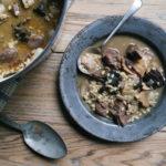 venison stew with mushroom and barley