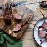 vegemite glazed lamb rack