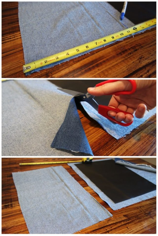 make your own knife roll step by step