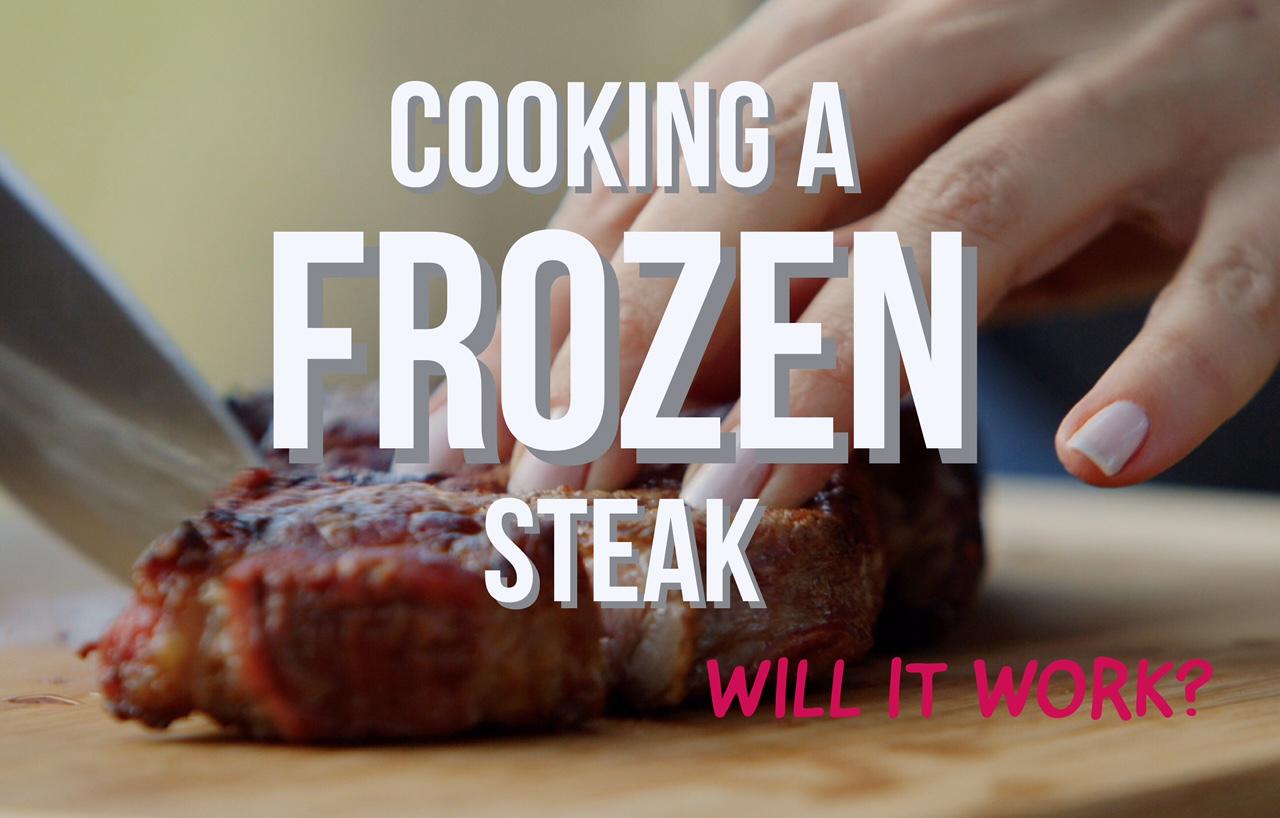 cooking a frozen steak