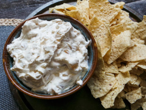 creamy smoked onion dip