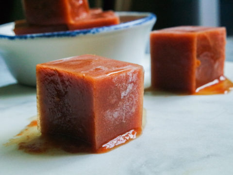 spiced smoked tomato cubes