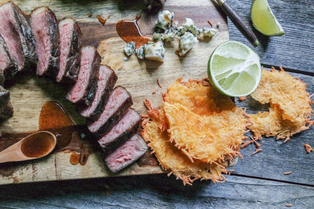 create a steak platter as an appetizer