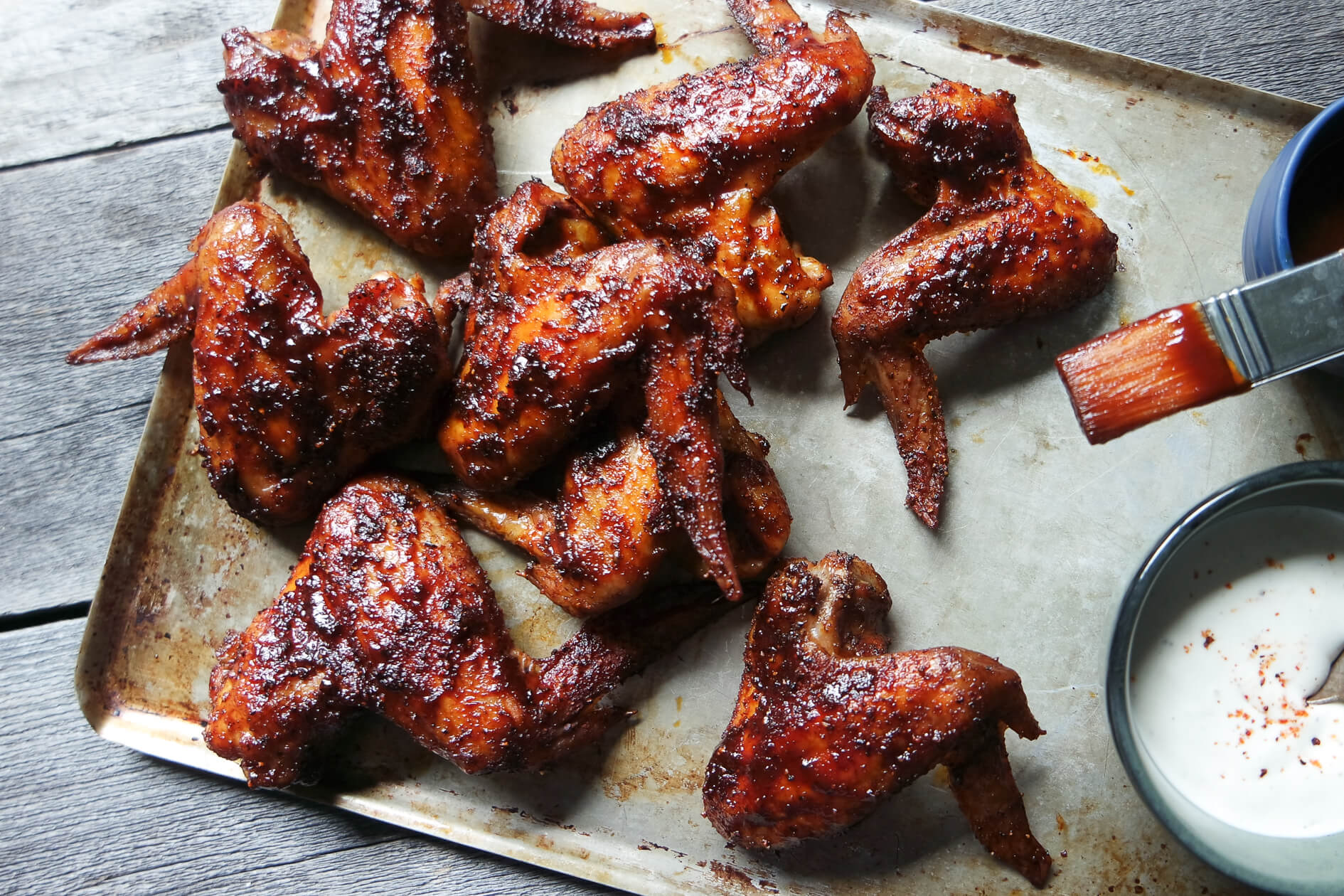 Beer Brined BBQ Wings