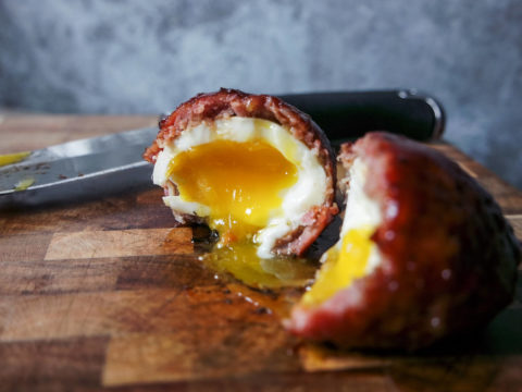 smoked scotch egg