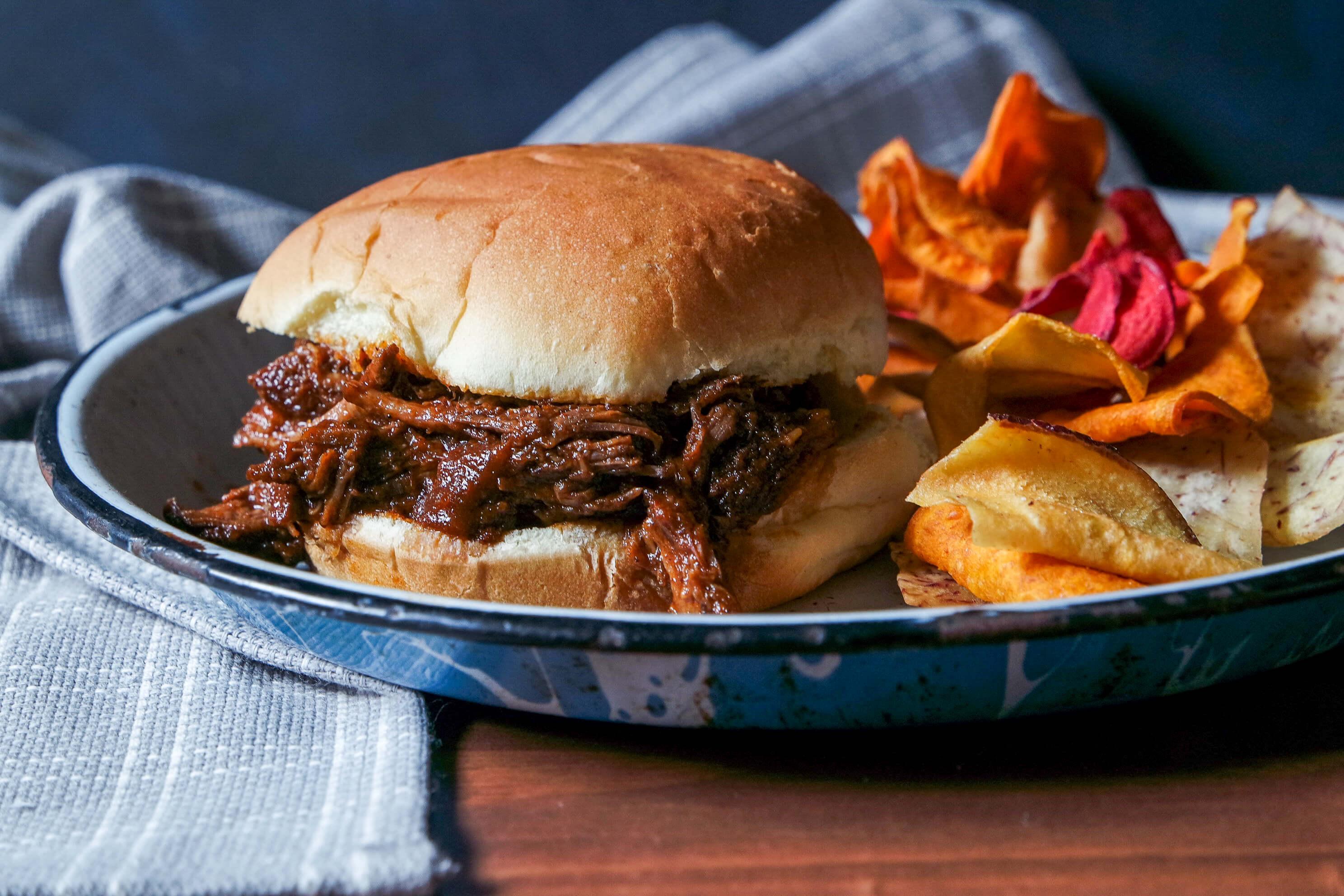 Beer Braised Shredded Beef Sandwiches Jess Pryles