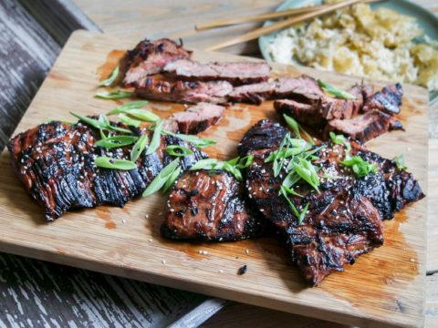 asian marinated skirt steak