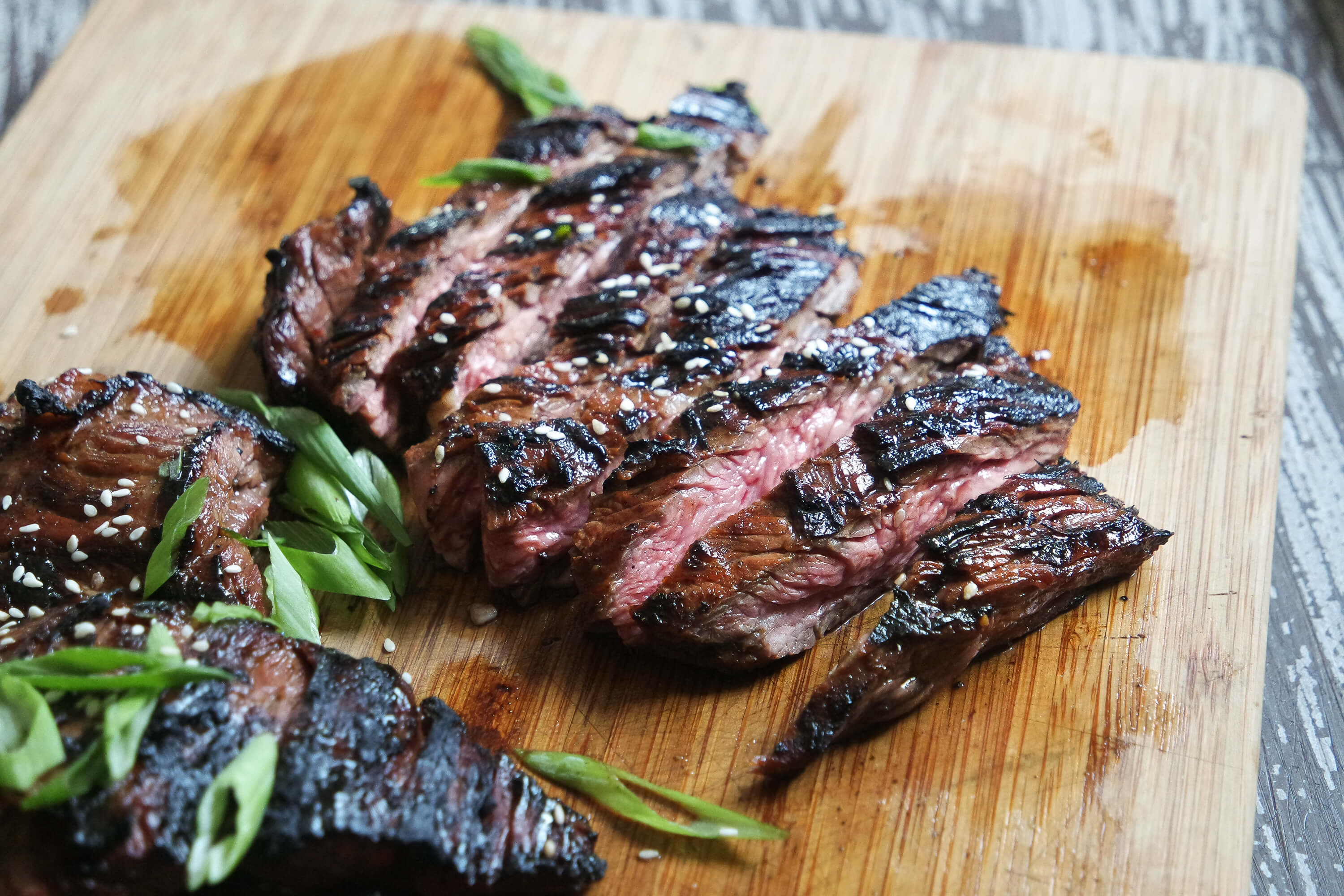 medium rare skirt steak