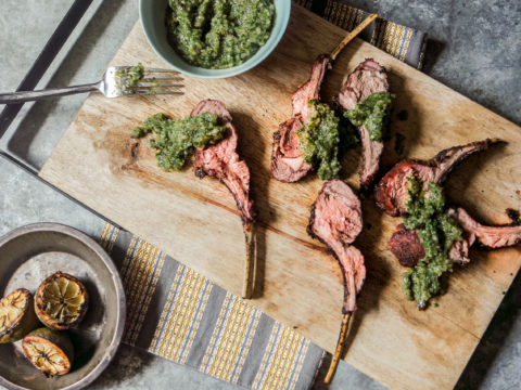 how to grill a lamb rack