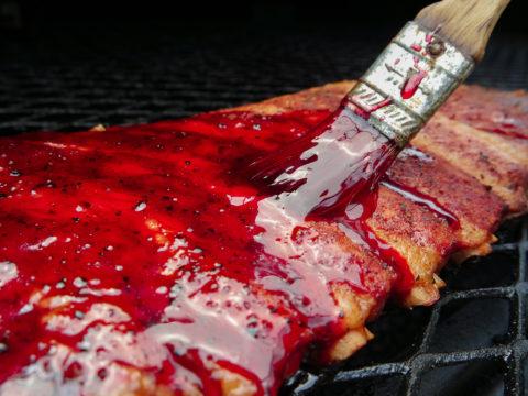 hibiscus flower pork rib glaze