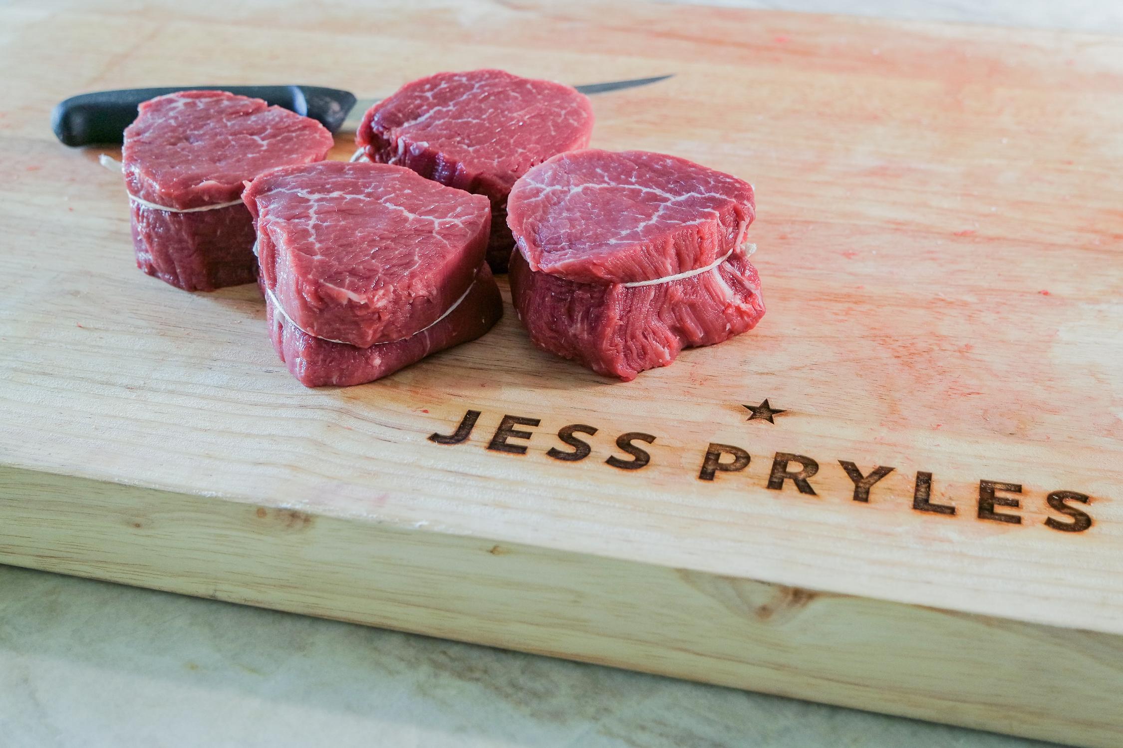 tied filet mignon steaks