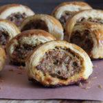 sausage rolls with pork & sage