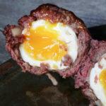 smoked venison scotch eggs