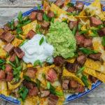 loaded beef fajita nachos