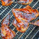 Mango Chile Glazed Grilled Quail