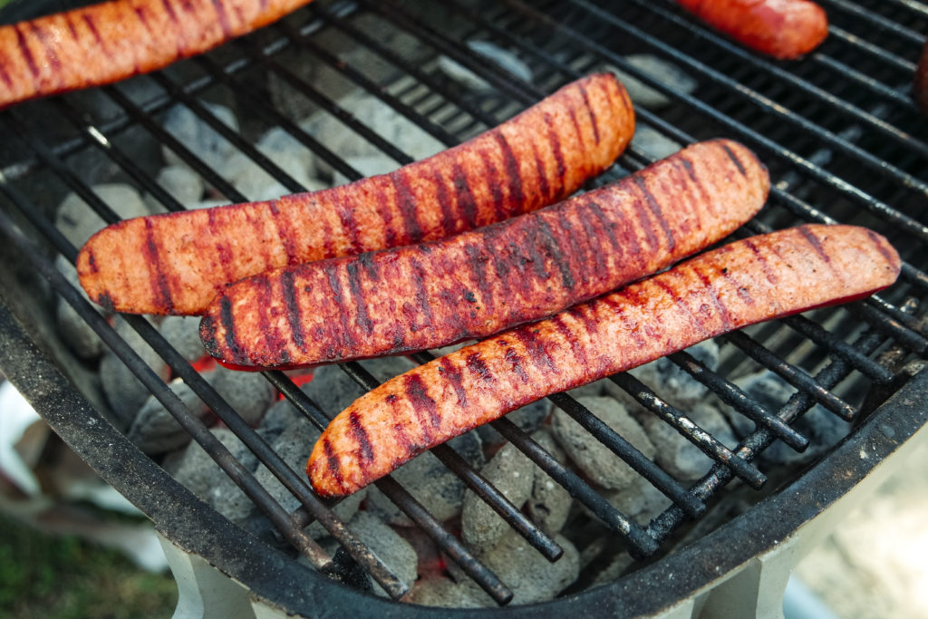 grilled andouille sausage