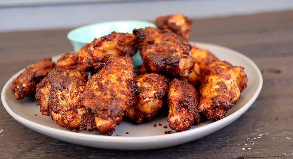 smoke fried chicken wings