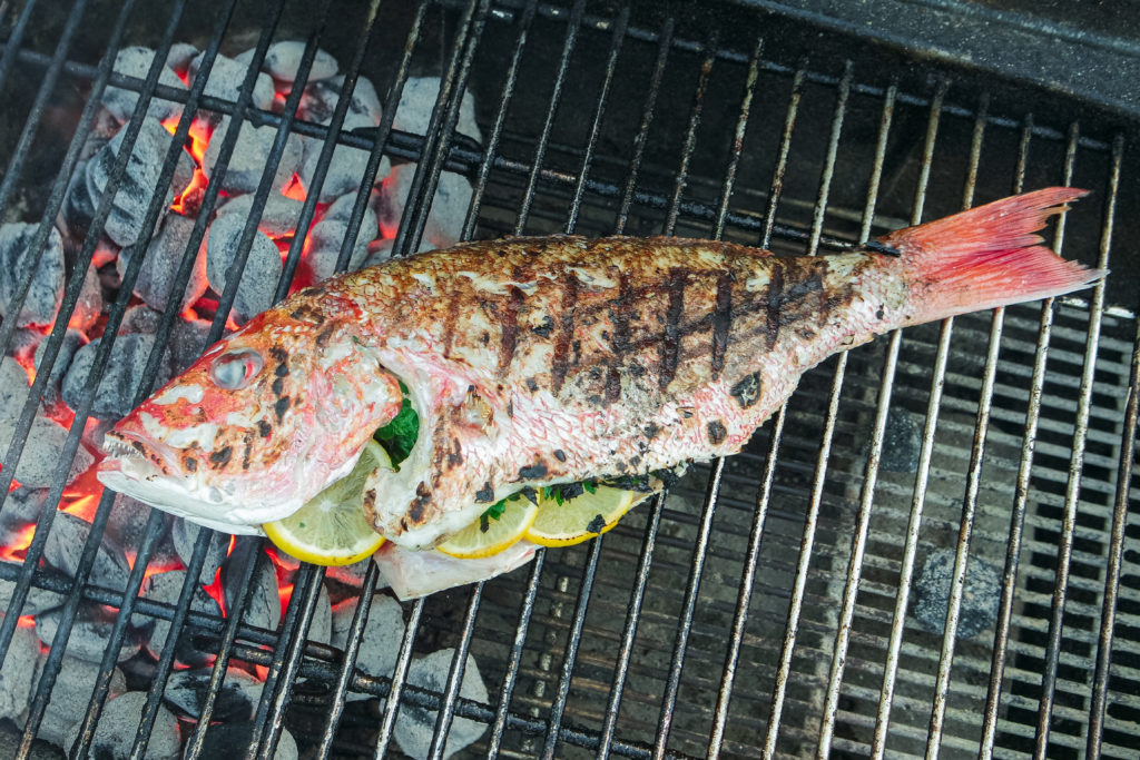 how to grill whole fish (without it sticking!)