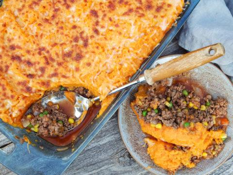 beef and sweet potato casserole