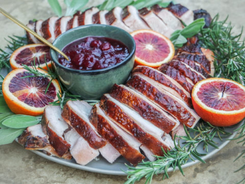 grilled turkey breast with worcestershire butter