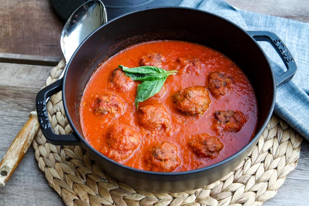 venison meatballs in red sauce