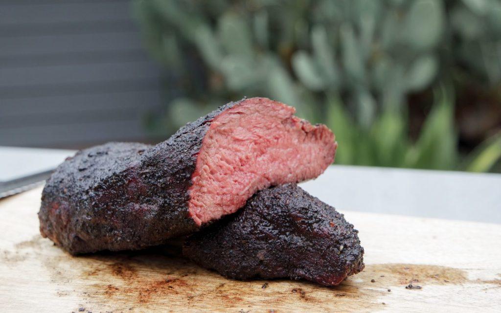 smoked tri tip steak