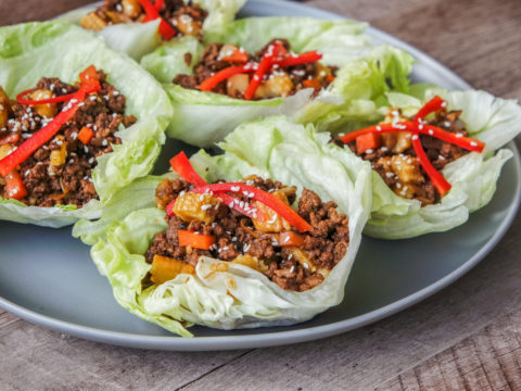 chinese lettuce cups with beef