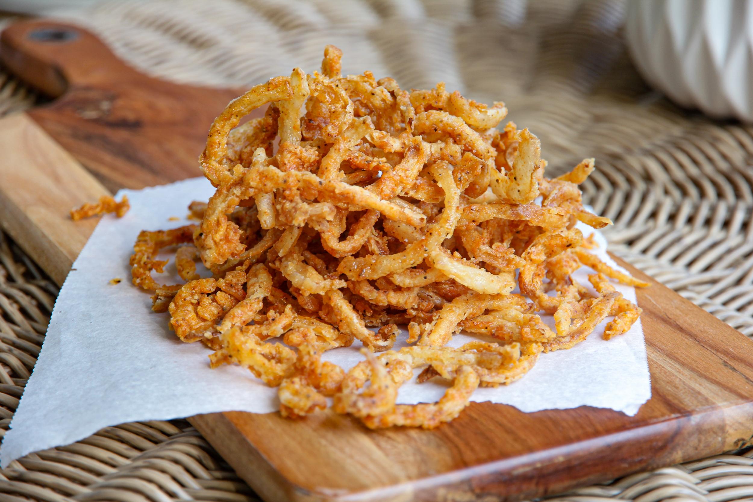 homemade crispy fried onion string recipe