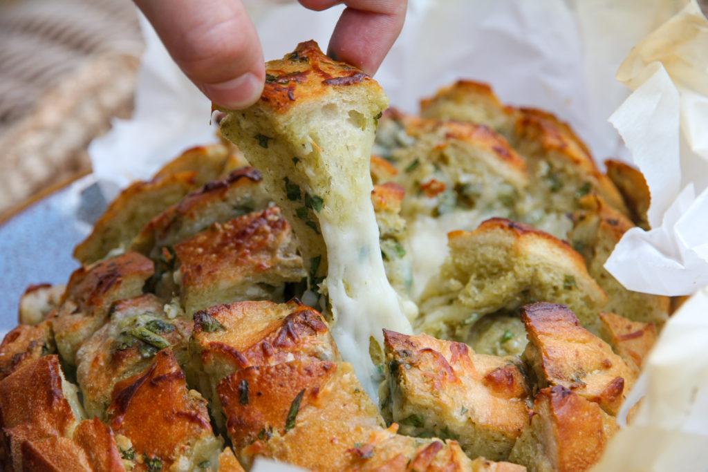 cheesy pull apart bread loaf